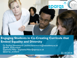 Teaching Inclusively: How to Embed Equality and Diversity