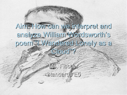 Aim: How can we interpret and analyze William …