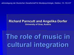 Musik und Minderheiten - Die Rolle von Musik in der