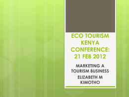 ECO TOURISM KENYA CONFERENCE: 20