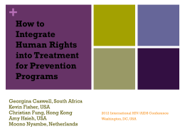How to Integrate Human Rights into Treatment for