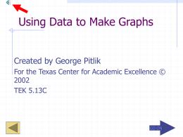 Using Data to Make Graphs