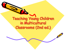 Teaching Young Children in Multicultural Classrooms …
