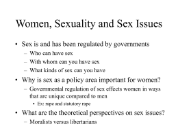 Women, Sexuality and Sex Issues