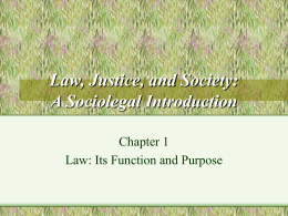 From Law to Order: The Theory and Practice of Law and …