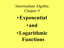 Intermediate Algebra Chapter 10