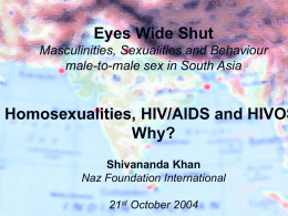 Masculinities, Sexualities and Vulnerabilities