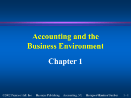 Accounting and the Business Enviornment