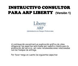 FORMATOS ARP LIBERTY - Bienvenidos | SEQ Consultores