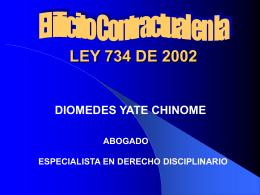 FILOSOFIA DE LA LEY 734 DE 2002