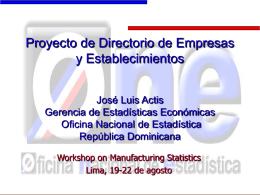 Directorio de Empresas y Establecimientos