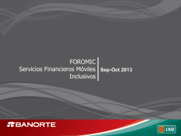 Diapositiva 1 - Foromic 2013