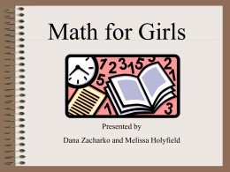 Intermediate Girls -Math