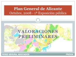 Propuesta plan general, octubre 2008