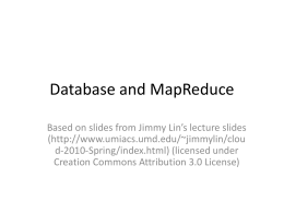 Database and MapReduce