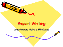 Report Writing - Primary Resources