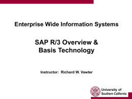 SAP R/3 Overview & Basis Technology