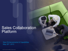 Cisco Sales Collaboration Platform Partner Introduction