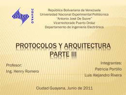 Protocolos y arquitectura Parte II