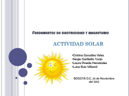Maximos y minimos solares