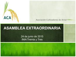 ASAMBLEA EXTRAORDINARIA24 de junio de 2015 INIA …