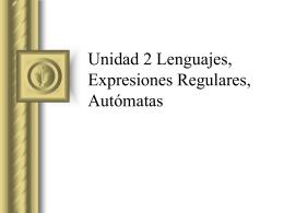 Lenguajes y E-R