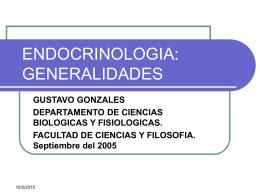 ENDOCRINOLOGIA: GENERALIDADES