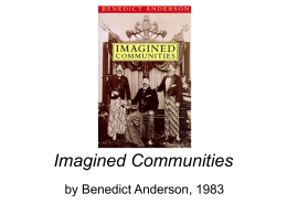Imagined Communities - University of North Carolina at