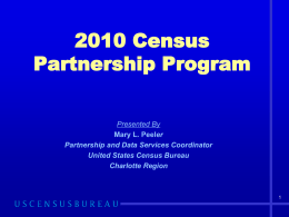 2010 Census Partnership Program