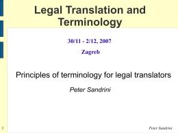Theoretische Grundlagen der Terminologie