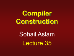 What is a compiler? - Virtual University of Pakistan