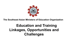 The Southeast Asian Ministers of Education Organization