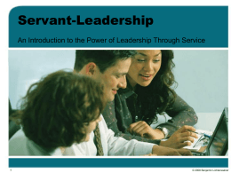 Introduction to Servant-Leadership
