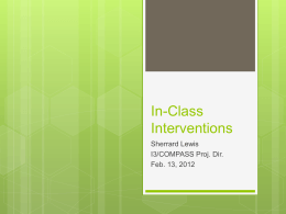 In-Class Interventions