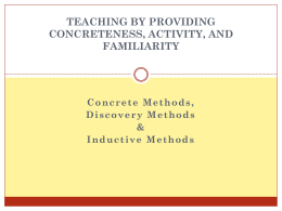Concrete Methods, - Montana State University Billings …