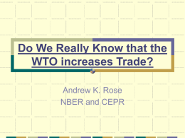 Do We Really Know that the WTO increases Trade?