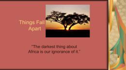 Things Fall Apart - Renton School District