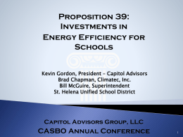 Proposition 39: Investments in