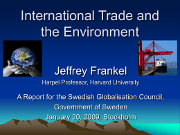 Environmental Effects of International Trade