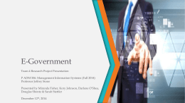 E-Government - ICMA: Leaders at the Core of Better