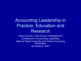 Accounting Leadership: Education and Social Responsibility