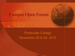 Campus Open Forum
