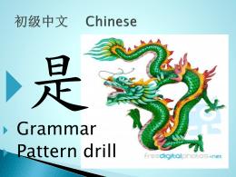 中文 CHN1003 Week 1