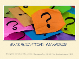 Your questions answered!