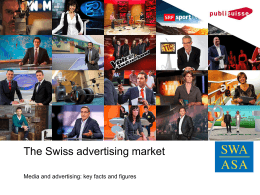 The Swiss advertising market - SWA-ASA