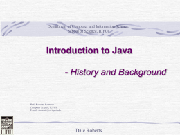 Java Introductrion - Computer & Information Science @ …