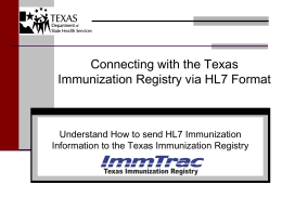 HL7ProviderKickoff - Texas Department of State