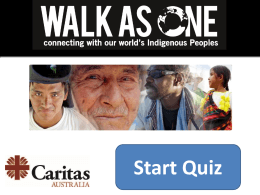 Walk As One Quiz