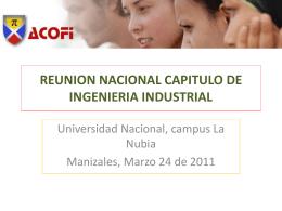REUNION NACIONAL CAPITULO DE INGENIERIA …