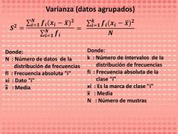 Varianza (datos agrupados)